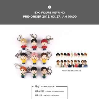 [Pre-order]EXO New goods-Figure keyring with photocard