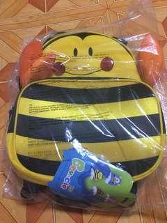 Kids Children School Bag Backpack Yellow Bee 3D