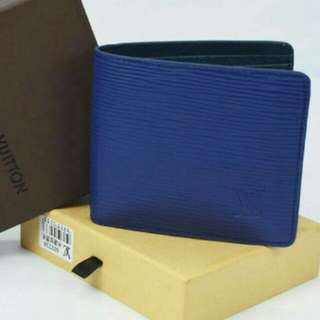 Louis Vuitton Men Wallet Electric Blue Color