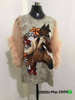 Horse Print Party Shirt (Good Quality)