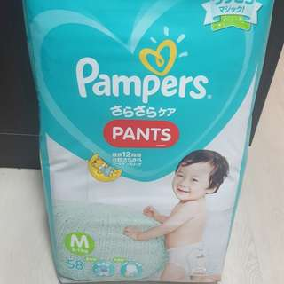 Pampers M pants (new) 6-12kg
