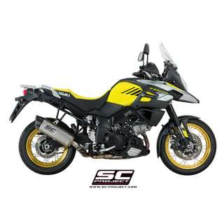 SC PROJECT Adventure Muffler - Titanium with carbon cap for Suzuki - V-STROM 1000 '17-18 (LTA APPROVED)