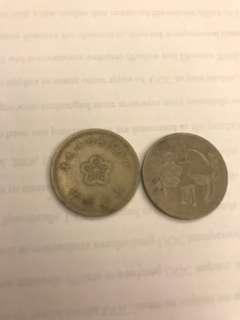 🚚 錢幣-43年 壹圓