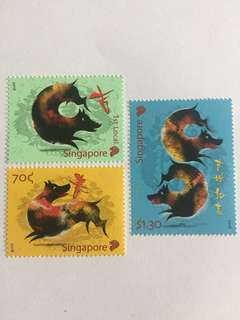 Singapore 2018 zodiac series dog mnh