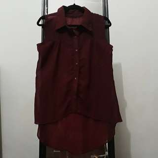 Maroon Top / Shirt