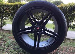 18in PCD 5-112 Inforged Lightweights Rims & Goodyear Eagle F1 Asymmetric 2 Tyres On Offer Sale