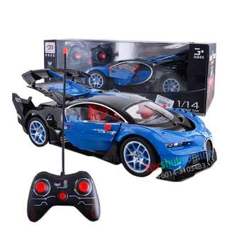 Radio Control 1:14 Scale model Remote Control Racing Car Open Door Blue