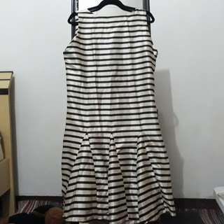 Dress salur cream black