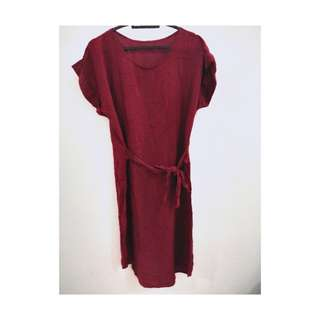 Dress maroon catcy