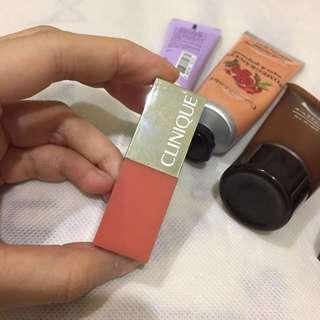 Clinique 唇膏/Apieu指緣油/Crabtree 護手霜/無印美容液