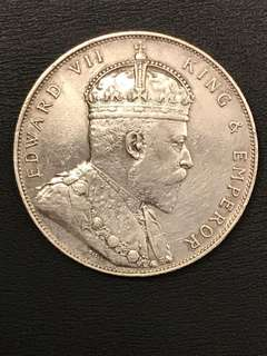 1 Dollar, Straits Settlements King Edward VII 1907