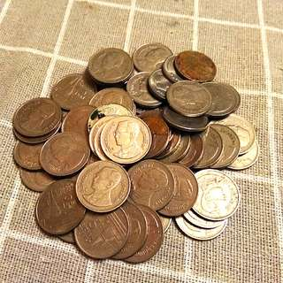 1 Baht Coins x 57Pcs