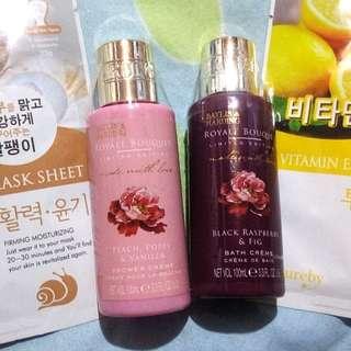 RUSTANS Baylis & Harding 2 btls Body wash creme + 2 Korean Face Mask Sheets All for 300 pesos ‼️