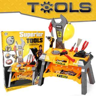 Childrens Kids Superior Tools Workshop Bench Station DIY Toy Set