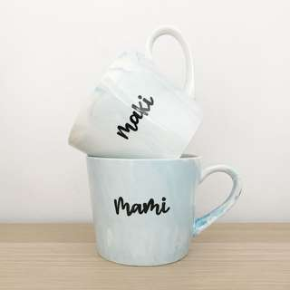 Customized marble mug - handcrafted gift idea for mother's day
