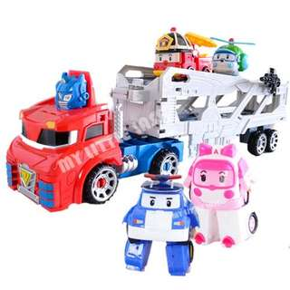 Transformer Tobot Deformation Truck with Robocar Poli Set