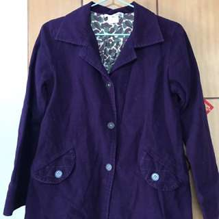 紫色外套 棉質