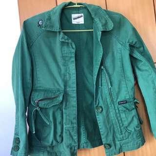 Twopercent  綠色外套 不厚不薄 外套