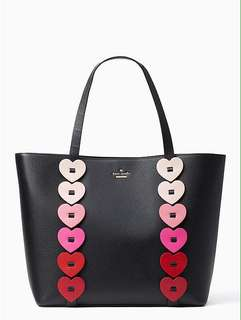 KATE SPADE OMBRE HEART TOTE BAG
