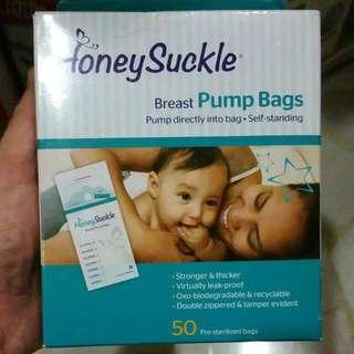 Honey Suckle Milk Storage Bags