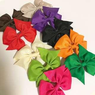 (Free Postage!) Girl Ribbon Hairclips