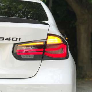 BMW 3 series F30 F80 M3 M Performance Blackline Rear LED Tail Lights with installation