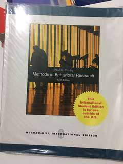 Methods in Behavioral Research (10th Edition) by Paul C. Cosby