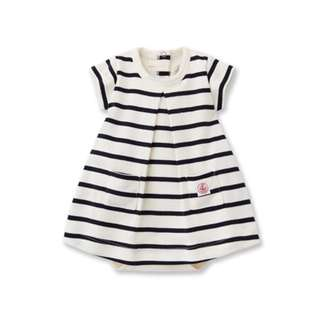 Petit Bateau Striped Body Suit Dress