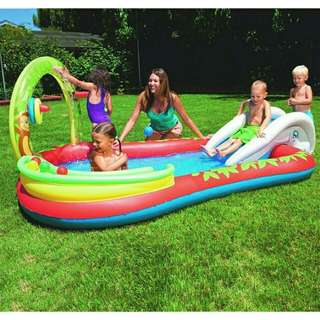 *FREE DELIVERY to WM only / Ready stock* Kids bestway pool set as shown design/color. Free delivery is applied for this item.