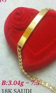Bracelet 18k Saudi