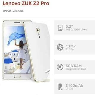 Lenovo Zuk Z2 Pro phone - 5.2 inch - 6gb ram - 128gb storage