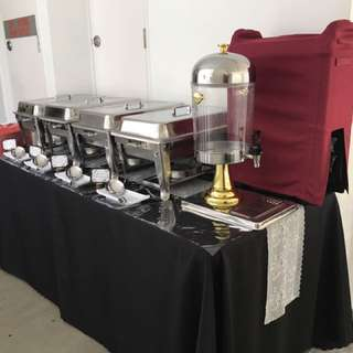 Buffet Table Setup Chafing Dish Birthday Nikah House Warming