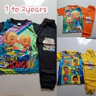 Upin n ipin Kids/ Toddlers Pyjamas set
