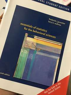Essentials of Statistics for the Behavioral Sciences (6th edition) by Frederick J. Gravetter and Larry B. Wallnau