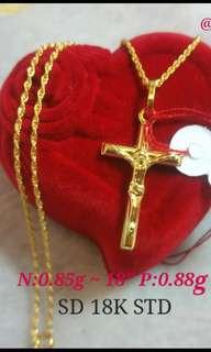 Necklace w/ Pendant 18k Saudi