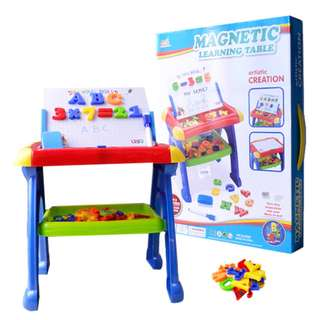 Magnetic Drawing Learning Board Table for Children 3 in 1