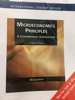 Microeconomics Principles - A Contemporary Introduction (8th Edition) by McEachern