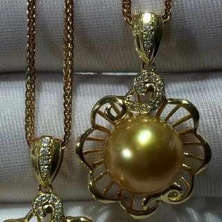 超美金珠吊墜 變態濃 珠光極品 滑皮 10到11M 18k鑽石💎 💰💰優惠價發售,歡迎咨詢訂購😊