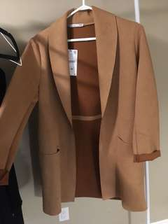 Zara camel long blazer / jacket