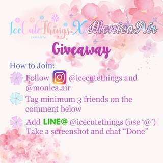GIVEAWAY IceCuteThings!