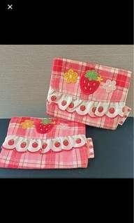 Mothergarden strawberry tissue pack M巾紙巾袋