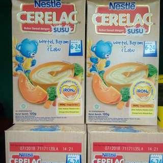 Cerelac bubur dengan susu 6-24bln