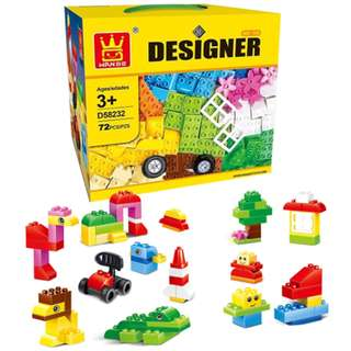 Little Builder Designer building blocks Building Bricks Toy High Quality 72 pcs