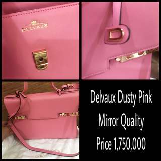 Delvaux Dusty Pink Mirror Quality