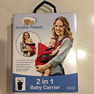 Luvable Friends 2 in 1 Baby Carrier