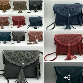 **kate spade  **2n1  **sling (11x9)inch **pouch (3x5)inch Php280