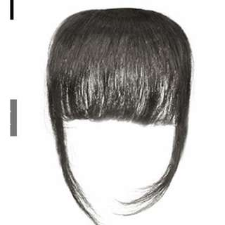 Clip on Front Fringe Bangs - BLACK ONLY