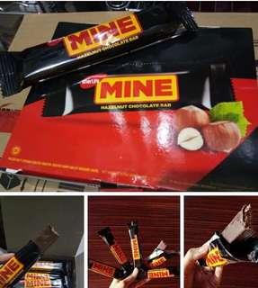 Mine hazelnut chocolate bar