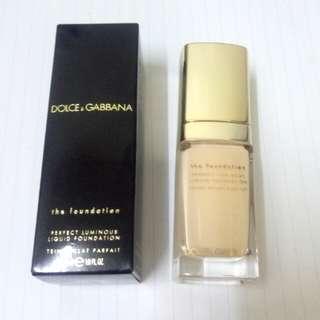 (全新)(正貨)D&G Dolce & Gabbana foundation 粉底液 classic 60