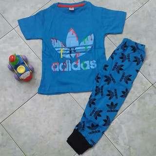 Adidas pyjamas set- blue
